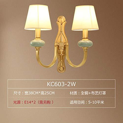 Lamp wandlamp wandlampen buitenlamp Amerikaans bedlampje landelijke woonkamer lamp moderne slaapkamer gang muur keramiek koper