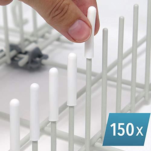 Die ORIGINAL Silikon-Spülmaschinen-Abdeckkappen (weiß, 150er-Set) von Smith's® - rost- und kratzfest | Passend für 99,9% aller Geschirrspüler | Hergestellt in Großbritannien | Lebenslange Garantie!