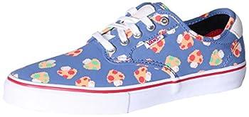 Vans Chima Ferguson Pro Mushrooms Blue/White Men s Skate Shoes Size 7.5