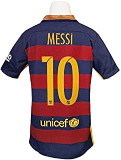 NWT Nike Dri-Fit Youth Leo Messi FB Barcelona 15/16 Home Jersey SZ Youth Medium