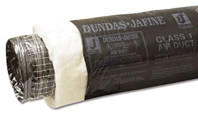 Dundas Jafine BPC625R6 Insulated Flexible Duct with Black Jacket, 6-Inches by 25-Feet