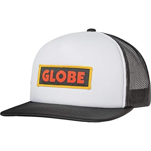 Globe Primed Trucker Kappe, Unisex, Erwachsene, Weiß/Schwarz, Einheitsgröße