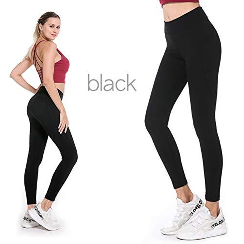planuuik Womens hoge taille yoga broek zakken Tummy controle stretch kont Lift legging