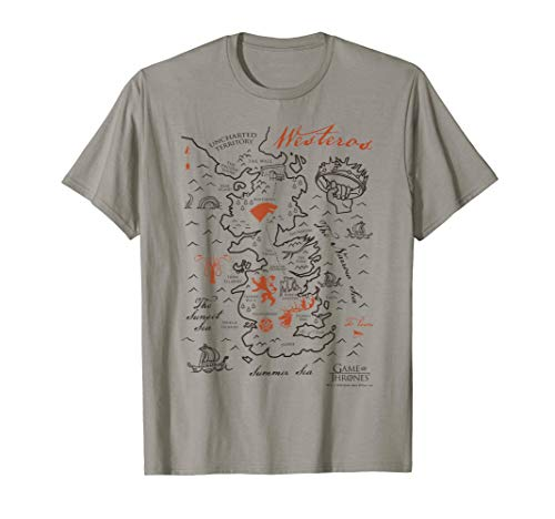 Game Of Thrones Map Of Westeros T-Shirt