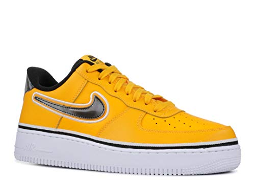 Price comparison product image Nike Men's Air Force 1 LV8 University Gold / Black / White Leather Casual Shoes 10 M US