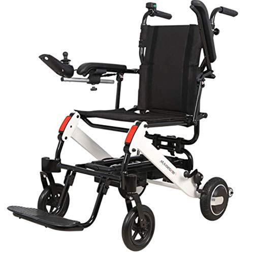 SXFYQ Elektrische rolstoel, aluminiumlegering, lichtgewicht klapgordel FM-radio, achterwiel, anti-rolbare fiets