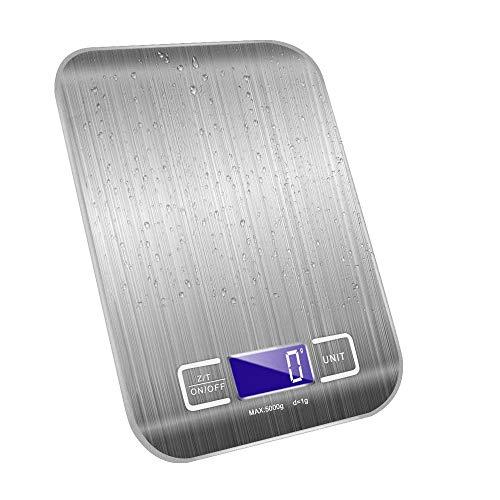 キッチンスケール はかり デジタル [風袋引き オートオフ] デジタルスケール スケール 計量器 1.0gから5.0kg LCDディスプレイ 電子はかり 測り 料理 調理 お菓子作り 封筒 レタースケール コンパクト