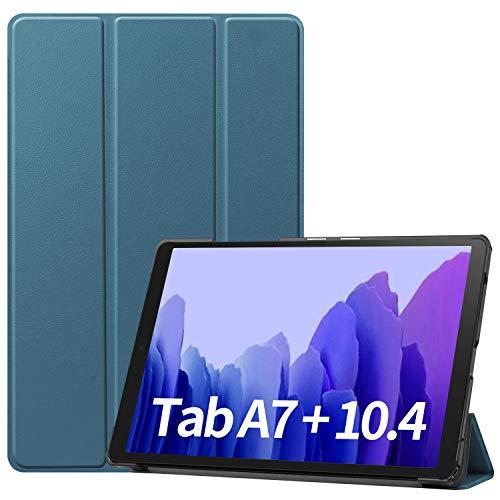 Omnpak Funda Compatible con Samsung Galaxy Tab A7 T505/T500/T507 10.4 2020 , Funda Tríptica Smart Cover con Auto Sueño Estela, Carcasa Ligera con Soporte Función