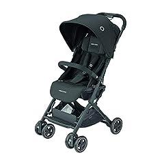 Wózek Bébé Confort Lara, składany, bardzo kompaktowy, unisex dla dzieci od urodzenia do 3,5 roku / 0-15 kg Nero (Essential Black)