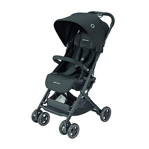 Bébé Confort Lara Kinderwagen, zusammenklappbar, sehr kompakt, Unisex für Kinder ab Geburt bis 3,5 Jahre / 0-15 kg Nero(Essential Black)