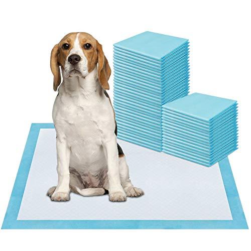 ZSTKEKE Welpenunterlage Trainingsunterlagen für Haustier, 50 Stück, 60 x 45cm, Super saugfähig, Hunde Welpen Hygieneunterlagen
