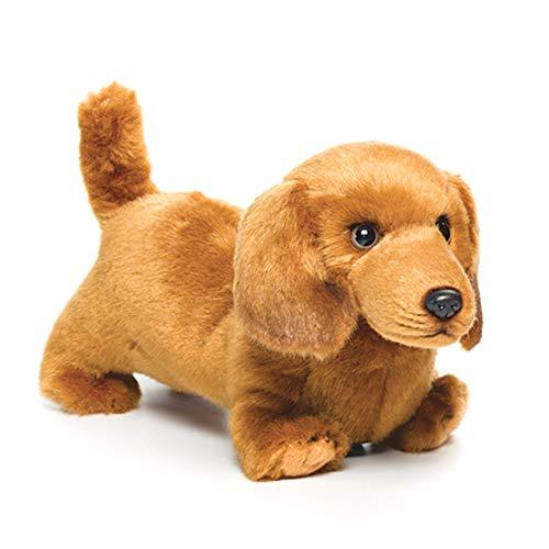 DEMDACO Playful Dachshund Dog Children's Plush Stuffed Animal Toy, 10 Inch, Caramel Brown