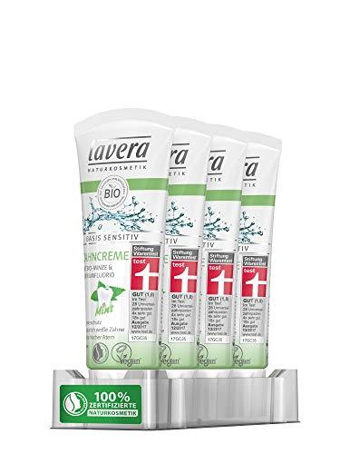 lavera basis sensitiv Zahncreme Mint, 4er Pack (4 x 75 ml)