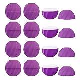 Lurrose 10 Unidades de Tarros de Plástico Vacíos para Cosméticos Envases de Cosméticos Recargables para Maquillaje Botella de Muestra de Viaje a Prueba de Fugas para Bálsamo Labial Sombra