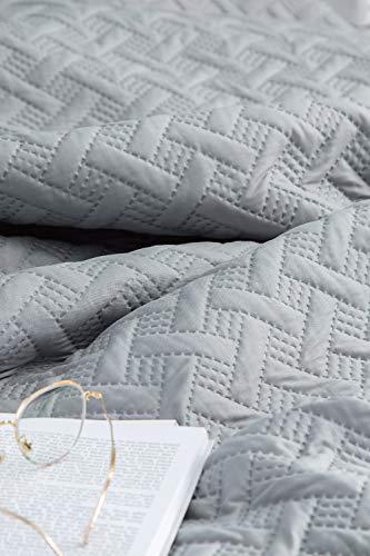 Bedsure Tagesdecke Sommerbett 150 Grau - Quilt...