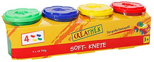 Creathek Knete 4er Set Grundfarben 560 g