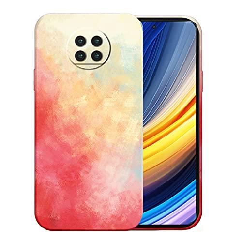Funda de teléfono compatible con Xiaomi Poco X3 Pro, funda de silicona, Smartphone Xiaomi Poco X3 Pro Case Colorido, funda Xiaomi Poco X3 Pro, funda blanda (rojo, Xiaomi Poco X3 Pro)