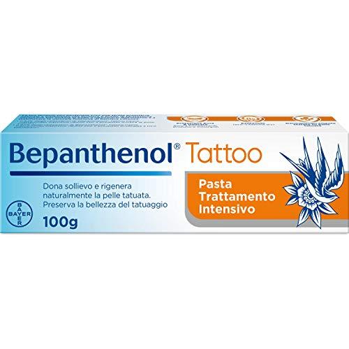 Bepanthenol Tattoo Crema per Tatuaggi con Pantenolo 5%, Senza Conservanti, Profumi e Coloranti, 100 g