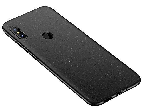 Baanuse Xiaomi Redmi Note 5 Funda, [Ultra Slim Soft TPU] [Sand Scrub Non-Slip] [Shockproof Armor] Carcasa para Xiaomi Redmi Note 5 Negro
