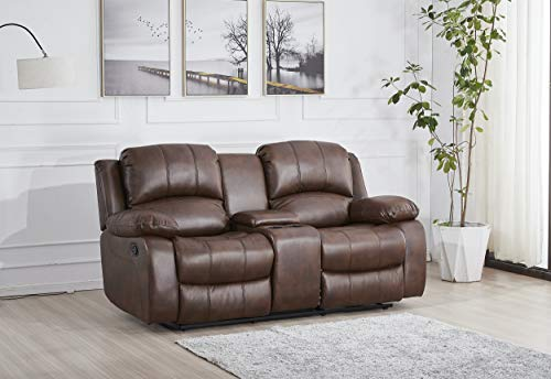 4pcs Bonded Leather Recliner Set