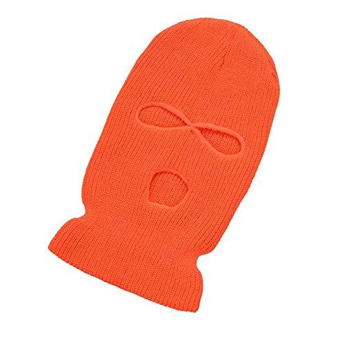 Máscara de esquí de punto de invierno de 3 agujeros para cubrir la cara, pasamontañas, máscara de esquí para esquí, motociclismo, correr, senderismo, escalada, snowboard, etc.