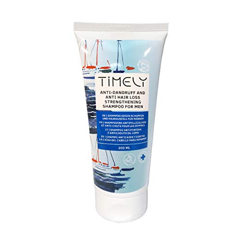 Timely Anti-shock en anti-haaruitval, haarversterkende shampoo voor mannen, 200 ml