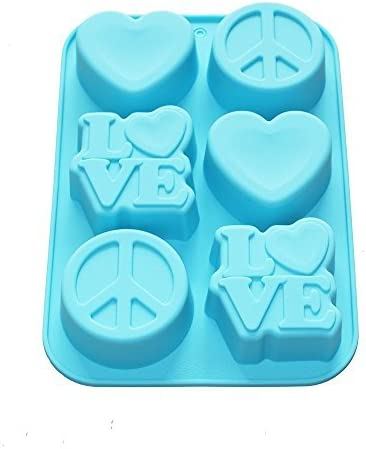 X-Haibei Love Heart Peace Sign Soap Jello Sil Supplies Cake OFFicial shop Price reduction Mini