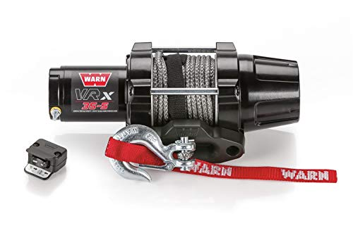 Best Bargain WARN 101030 VRX 35-S Powersports Winch with Handlebar Mounted Switch and Synthetic Rope: 3/16″ Diameter x 50′ Length, 1.75 Ton (3,500 lb) Capacity