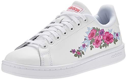Adidas Cloudfoam Advantage Farm EF0130 713317 - Zapatillas para Mujer, Color Blanco, Mujer, EPG00, Ftwwht Ftwwht Reapnk, 37 1/3 EU