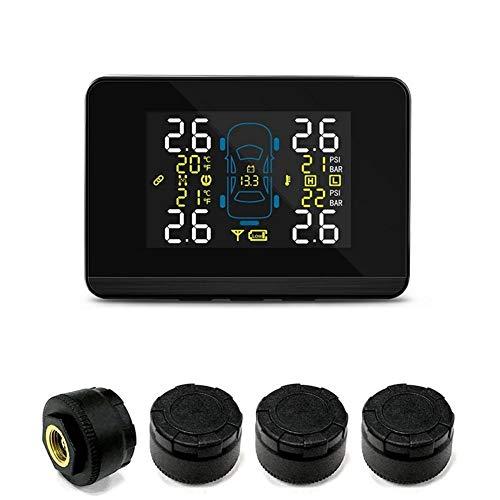 Coche TPMS coche inalámbrico de presión de neumáticos Sistema de Vigilancia con 4 neumáticos de las ruedas del sensor externo de la batería reemplazable Pantalla LCD ninguna necesidad de ajustar el eq
