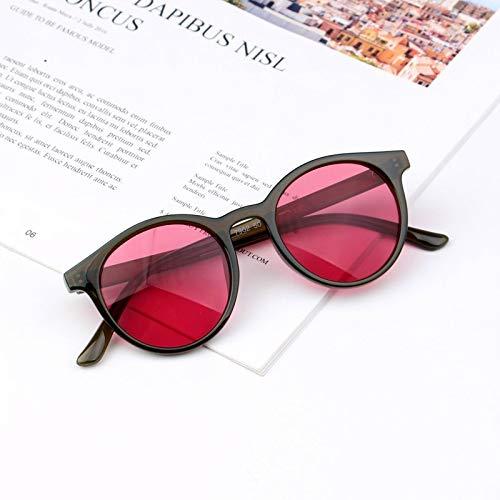 Gafas de sol para niños, retro, gafas de sol para niñas, gafas de sol vintage para bebé, gafas simples UV400 (lentes de color: C7 verde y rojo)