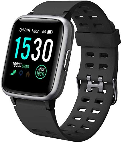 A2 lifestyle Smartwatch Fitness Herren Wasserdicht IP68 Smart Watch Pulsuhr Schrittzähler Smartband Activity Tracker Kinder Schrittzähler Stoppuhr