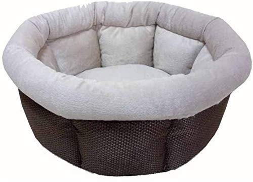 YAOSHUYANG Cama para mascotas, nido para mascotas, nido de algodón, nido para gatos y perros, 40 x 40 x 18 cm, color café