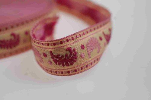 Ruban,bande,fleur,feuille,cachemire,vague.Bobine jacquard,indien,4 couleurs Neotrims pour loisirs créatifs,bijouterie,costumes,bordure sari,ceintures et fils décoratif