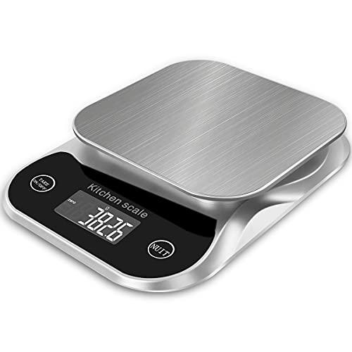 Balance de cuisine numérique Balance alimentaire Grammes et oz pour la cuisson du café 5 kg 0,1 g 0,003 oz avec fonction de tare et d'arrêt automatique Étanche et portable