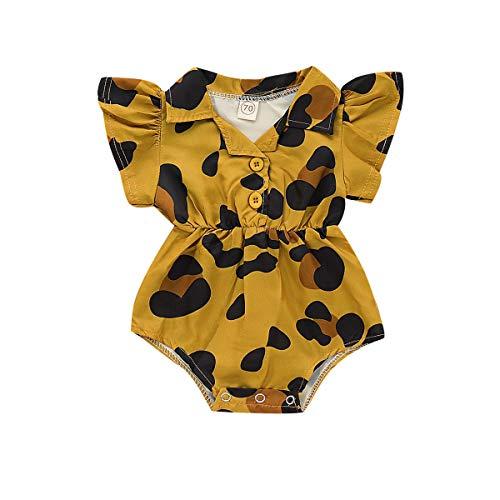 Livoral Neugeborenes Baby Kind gedruckt kurzen Ärmeln Strampler Body Outfit Kleidung(Mehrfarbig,6-12 Monate)