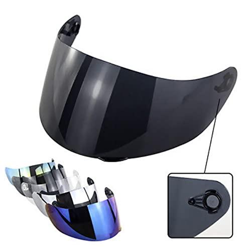 Visa de la Motocicleta Anti-Scratch Wind Shield Visor de Casco Cara Completa Fits AGV K1 / K3SV / K5 Visos de vidrios Accesorios para Motocicletas. (Color : Black Tan)
