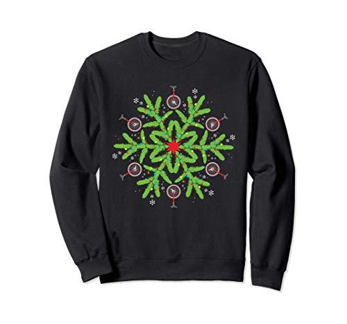 Unicycle Weihnachten Schneeflocke Einrad Sweatshirt