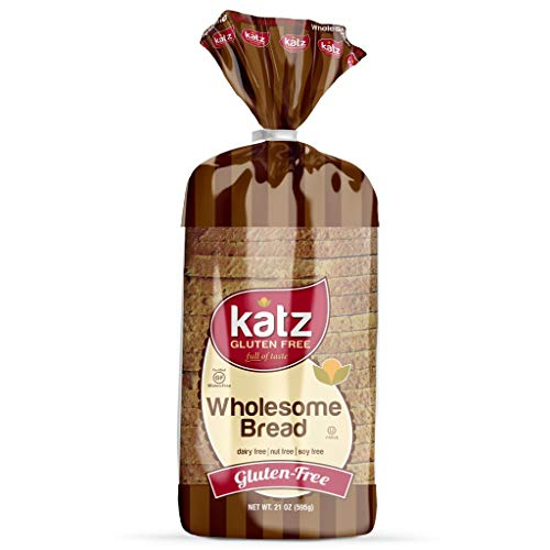 Katz Gluten Free Wholesome Bread | Dairy Free, Nut Free, Soy Free, Gluten Free | Kosher (6 Packs of 1 Sliced Loaf, 21 Ounce Each)