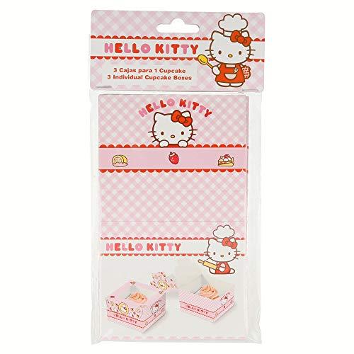 Lot de 3 boîtes pour 1 cupcake Hello Kitty dans un sac de Bakery