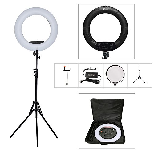 Yidoblo 18 Inch 480 SMD LED Ring Light Bi Color Dimmable Camera Photo Studio Video Portrait Film Selfie YouTube Photography Continuous Lighting with Phone//Camera Holder Makeup Mirror Pink