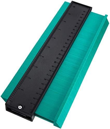 SXYHKJ Medidor de Contornos para Suelo-10 pulgadas 250 mm Perfil de plástico Duplicador de medidor de contorno Herramienta de marcado de madera Azulejos laminados,Regla de Medición (125MM) (250MM)