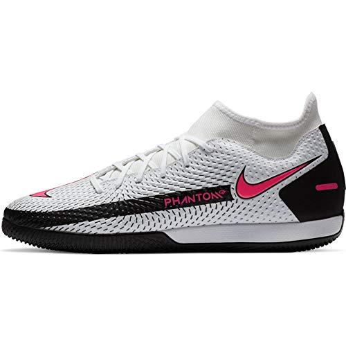 Nike, Botas de fútbol Unisex Adulto, Blanco, Rosa y Negro, 44.5 EU