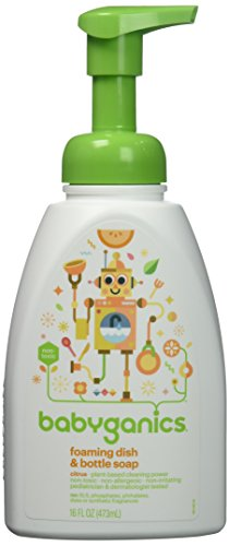 BabyGanics Foaming Dish and Bottle Soap, Citrus, 16 Ounce (Pack of 3)