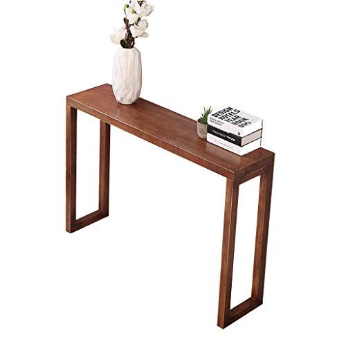 ZKLNO Home Chinese Massivholz Konsolentisch, Kreative Wohnzimmer Langen Tisch Moderne Minimalistische Holz Bar Theke Wand Beistelltisch Regal,Walnut Color,100CM