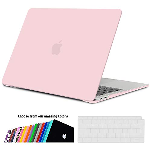 iNeseon Hard Case Cover voor 2018 2019 MacBook Air 13 Retina (model A1932), Hard Shell Plastic Case en Keyboard Cover Protector voor nieuwe MacBook Air 13 inch met Touch ID, Rozenkwarts