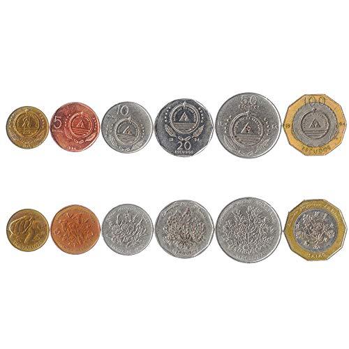 Hobby of Kings Set di 6 Monete Commemorative da Capo Verde 1-100 Scudi. Flora - Piante 1994