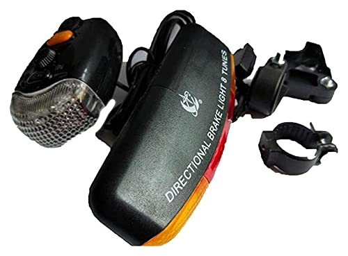 El Mejor Juego De Luces Led Para Bicicleta Para Niños Y Adultos, Faro De Bicicleta Súper Brillante, Luz De Freno Direccional Con Señal De Giro, 8 Sonidos, Bocina, Seguridad, Conducción Nocturna