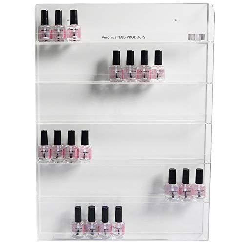 Nagellak rek voor 72 nagellakken ' muur bevestiging ', 6 niveaus.