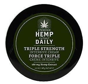 Hemp Daily Intensive Cream   Triple Strength Intensive Hemp Cream with Essential Oils   Vegan, Organic Ingredients   1.7 Ounces, 1 Pack